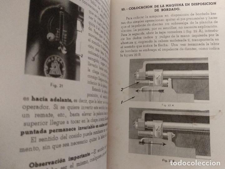 Antigüedades: INSTRUCCIONES PARA EL USO DE LA MÁQUINA DE COSER Y BORDAR ALFA - Foto 5 - 231496230