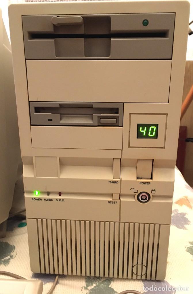 ORDENADOR Y ACCESORIOS DE CALIDAD AÑO 1993 FUNCIONANDO, MONITOR RELISYS, DOS DISQUETERAS (Antigüedades - Técnicas - Ordenadores hasta 16 bits (anteriores a 1982))