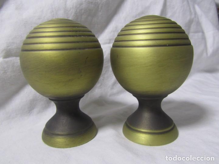 Antigüedades: 2 pomos tiradores de bronce - Foto 2 - 231611895