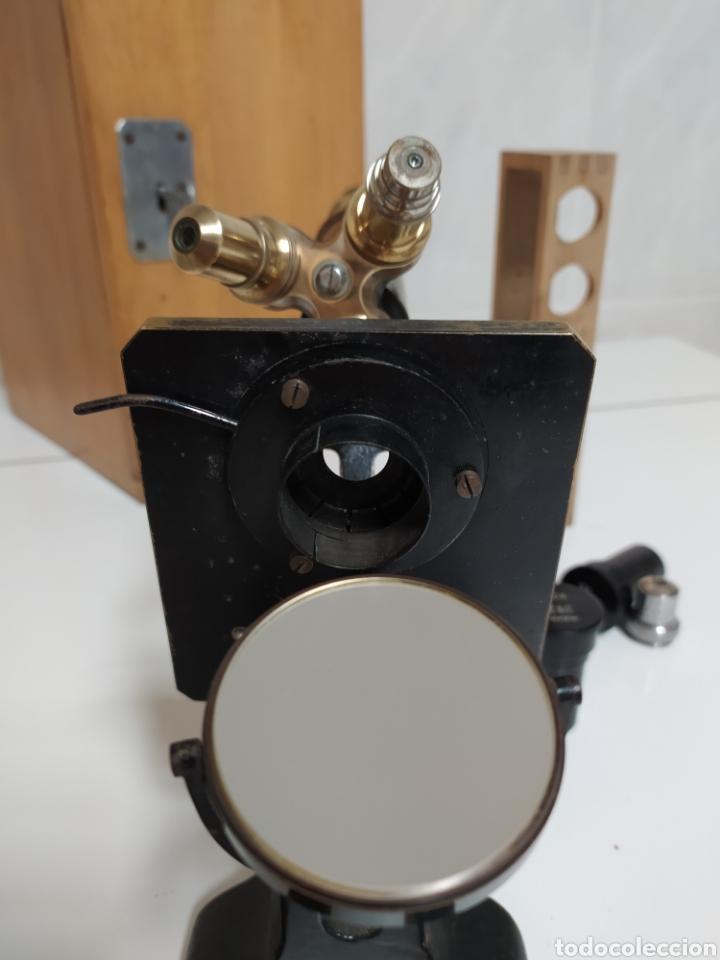 Antigüedades: Antiguo Microscopio R. Winkel Göttingen. 1915 aprox - Foto 5 - 231882250