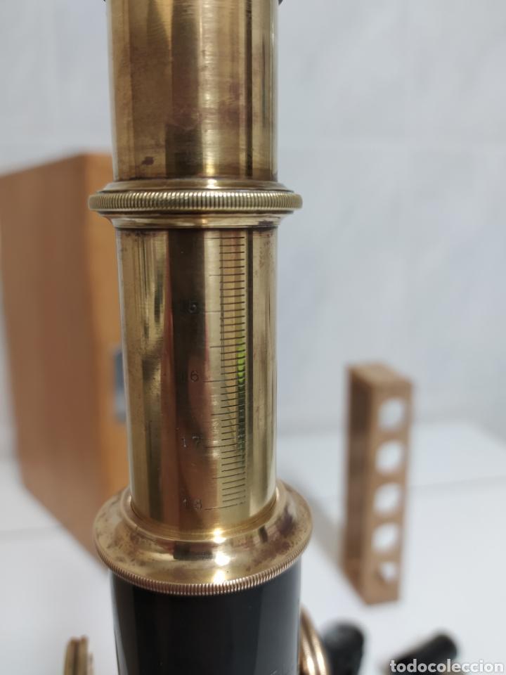 Antigüedades: Antiguo Microscopio R. Winkel Göttingen. 1915 aprox - Foto 6 - 231882250