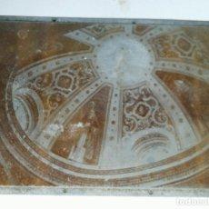 Antiquités: CLICHÉ O PLANCHA DE ZINC. FOTOGRAFÍA CÚPULA IGLESIA. IMPRENTA VALVERDE DEL CAMINO.. Lote 231910970