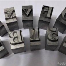 Antigüedades: ANTIGUOS. 10 TIPOS DE IMPRENTA. Lote 232085735