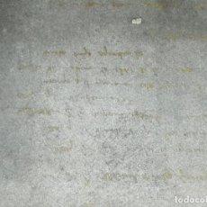 Antigüedades: CLICHÉ O PLANCHA DE ZINC. ESCRITO A MANO?. DIFÍCIL DE IDENTIFICAR.. Lote 232240430