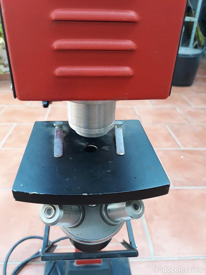 MICROSCOPIO PROYECTOR (Antigüedades - Técnicas - Instrumentos Ópticos - Microscopios Antiguos)