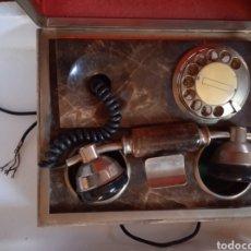 Teléfonos: PRECIOSO Y ANTIGUO TELÉFONO ENCASTRADO EN MARMOL. Lote 232324660