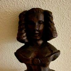 Antigüedades: MASCARON DE PROA , BARCO , EN MADERA DE NOGAL. Lote 232360435