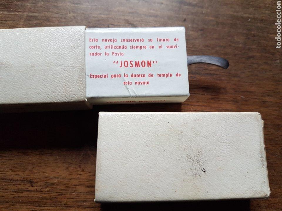 Antigüedades: Magnifica navaja afeitar barnero filarmonica Jose Montserrat en su caja nueva - Foto 4 - 232422180