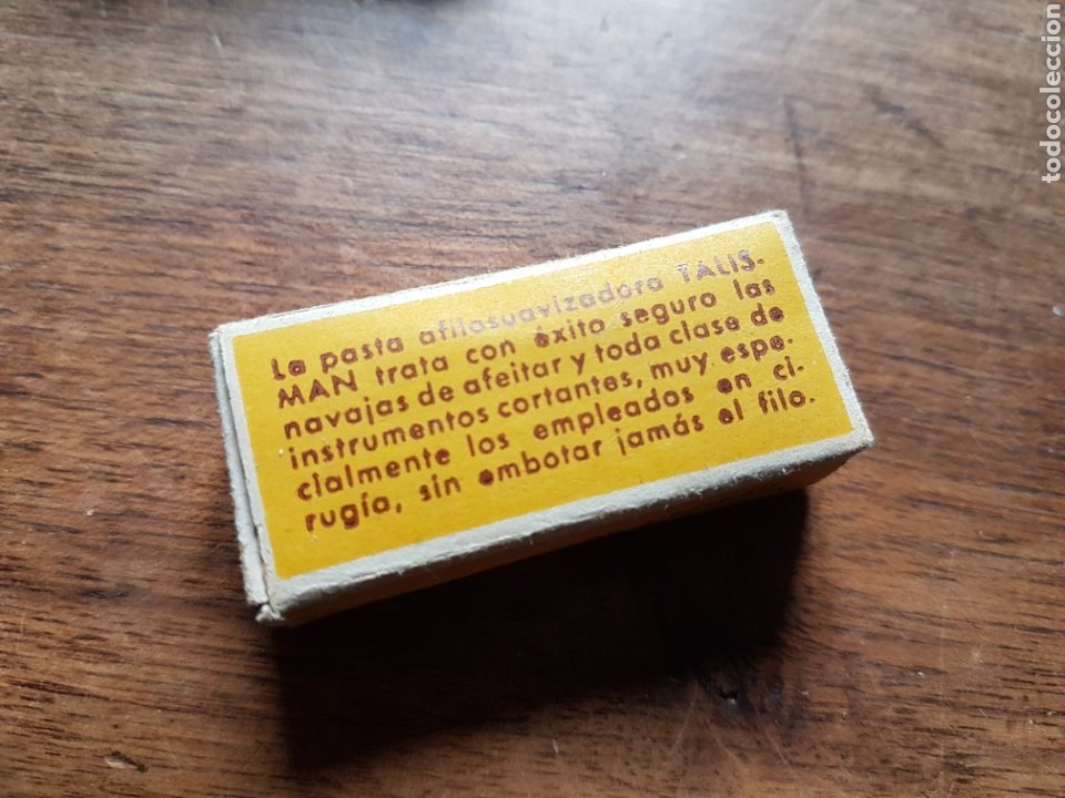 Antigüedades: Pasta afilosuavizadora navajas de afeitar barberia Talisman - Foto 2 - 232422610