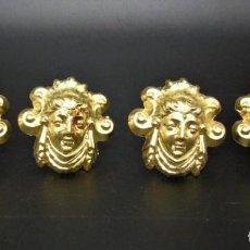 Antigüedades: 4 PRECIOSOS CLAVOS DORADOS IMPERIO S.XIX. Lote 256124145