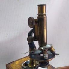 Antiguidades: IMPRESIONANTE MICROSCOPIO DE PARÍS EN MALETÍN SIGLO XIX. Lote 232710660