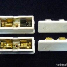 Antigüedades: LOTE DE 2 CAJAS FUSIBLES DE PORCELANA FPZ 533. 30 AMP (15). Lote 232811510