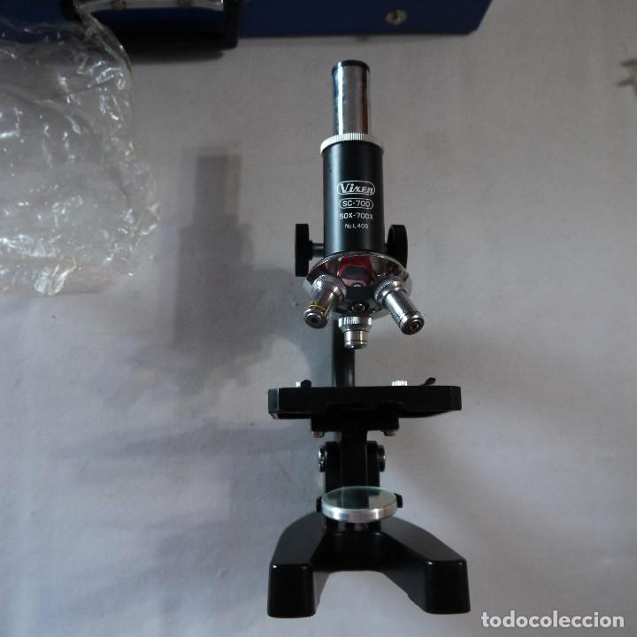 Antigüedades: MALETÍN CON MICROSCOPIO VIXEN SC-700 Y ACCESORIOS - LEER DESCRIPCION - Foto 11 - 232867350