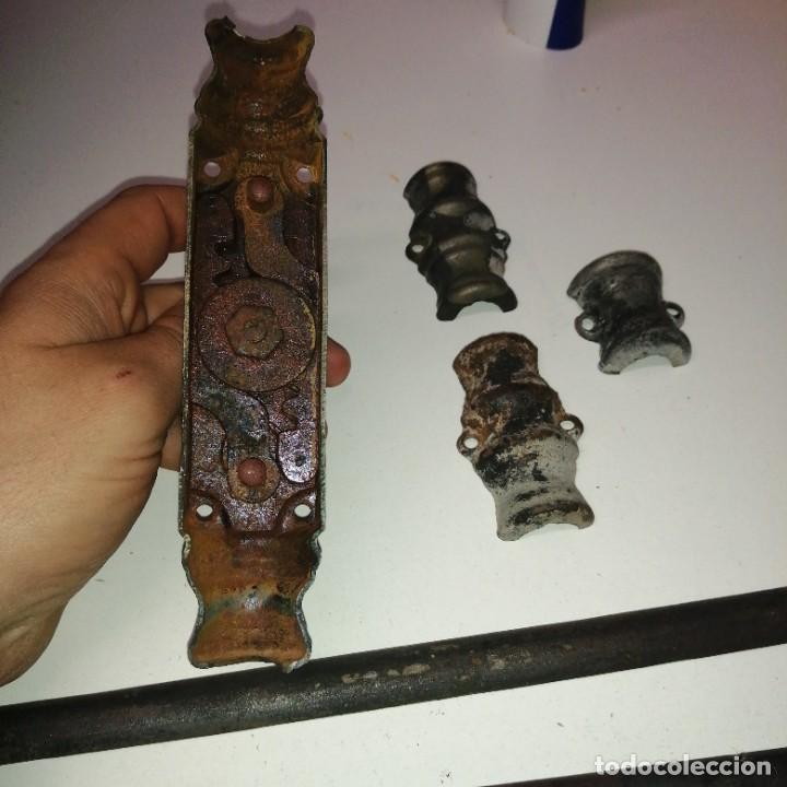 Antigüedades: Cerradura cerrajería tirador pomo UNIÓN DE MONDRAGON hierro para ventana cerrojo manivela FALLEBA - Foto 7 - 232888565