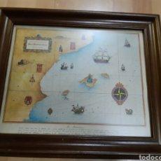 Oggetti Antichi: CARTA AVAL MAR MEDITERRANEO COSTA ORIENTAL DE ESPAÑA/BALEARES. VER DESCRIPCIÓN. Lote 233020300