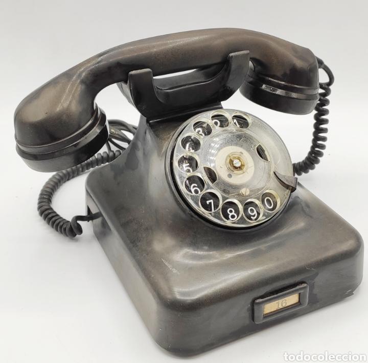 TELÉFONO SIEMENS EN BAQUELITA. VEAN FOTOS. (Antigüedades - Técnicas - Teléfonos Antiguos)