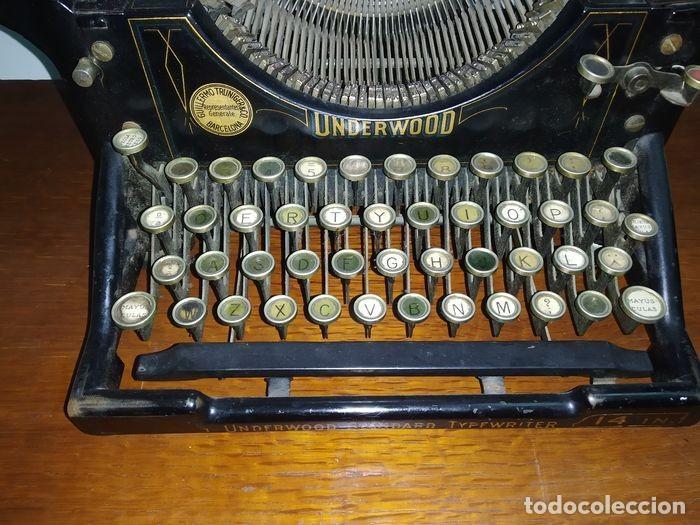 Antigüedades: Underwood Standar Tipperwritter nº 14 IN - Foto 5 - 233202045