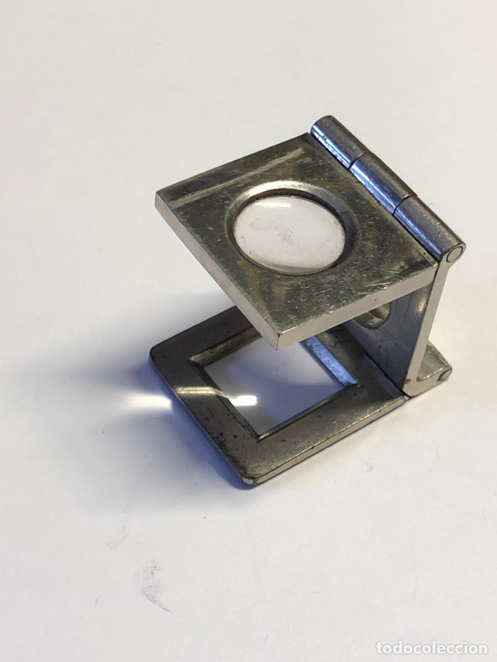 LUPA CUENTA HILOS MUY ANTIGUA Y BIEN CONSERVADA,PLEGABLE DE BOLSILLO (Antigüedades - Técnicas - Instrumentos Ópticos - Lupas Antiguas)