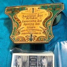 Antigüedades: VISOR EN LATA SERIGRAFIADA. Lote 233597870