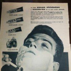 Antigüedades: (1951) LÉA, AFEITADO, COSMÉTICA, PUBLICIDAD, GRAN FORMATO DE PÁGINA 34 X 26 CM. Lote 233766170