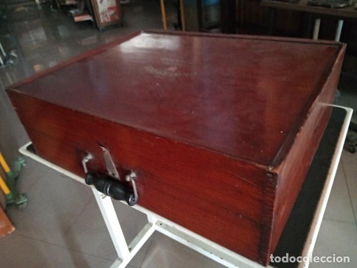 Antigüedades: Excepcional multicopista antigua en madera caoba- Bajada de precio - Foto 2 - 233835200