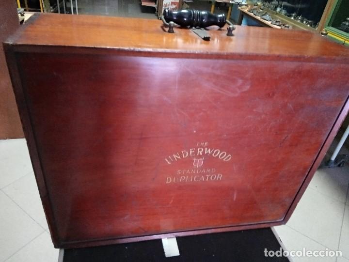 Antigüedades: Excepcional multicopista antigua en madera caoba- Bajada de precio - Foto 7 - 233835200