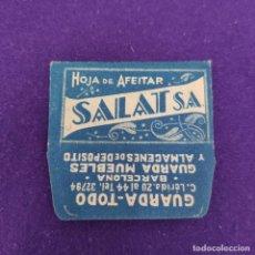 Antigüedades: FUNDA Y HOJA DE AFEITAR ANTIGUA. SALAT S.A.. Lote 233857605