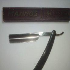 Antiquités: NAVAJA AFEITAR ANTIGUA MARCA MANNOS - EXTRA. Lote 233917340