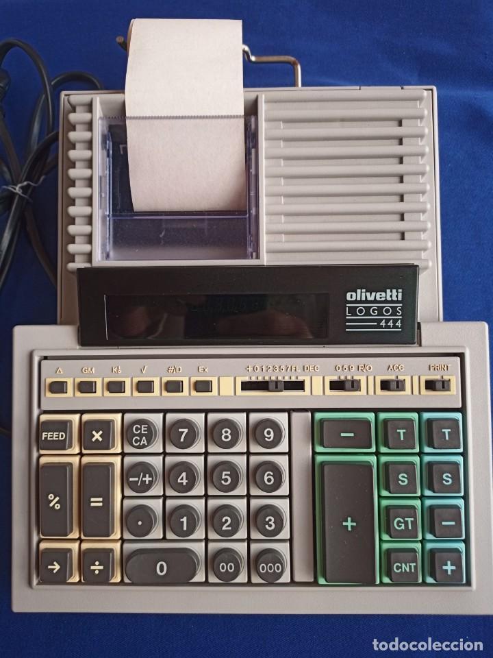 CALCULADORA DE IMPRESIÓN ELÉCTRICA VINTAGE OLIVETTI LOGOS 444,1975 (Antigüedades - Técnicas - Aparatos de Cálculo - Calculadoras Antiguas)