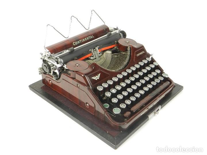RARA MAQUINA DE ESCRIBIR CONTINENTAL WANDERER MARRON-ROJIZA 1932 TYPEWRITER SCHREIBMASCHINE (Antigüedades - Técnicas - Máquinas de Escribir Antiguas - Continental)