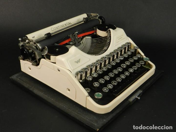 RARA MAQUINA DE ESCRIBIR CONTINENTAL WANDERERCOLOR MARFIL AÑO 1932 TYPEWRITER SCHREIBMASCHINE (Antigüedades - Técnicas - Máquinas de Escribir Antiguas - Continental)