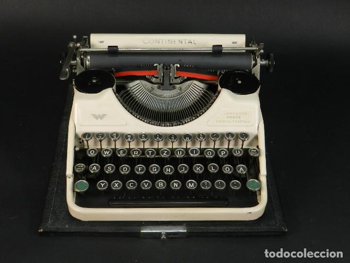 Antigüedades: RARA MAQUINA DE ESCRIBIR CONTINENTAL WANDERERCOLOR MARFIL AÑO 1932 TYPEWRITER SCHREIBMASCHINE - Foto 2 - 234042600