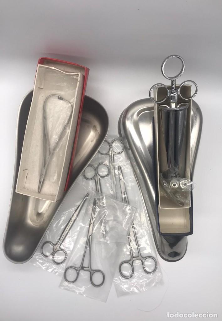 LOTE DE ANTIGUO INSTRUMENTAL MEDICO (Antigüedades - Técnicas - Herramientas Profesionales - Medicina)
