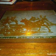 Antigüedades: PLANCHA CLICHE IMPRENTA - TAUROMAQUIA GOYA. PRINCIPIOS SIGLO 20.. Lote 193238332