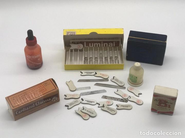 Antigüedades: LOTE DE ANTIGUAS CAJAS / BOTES/ PISA PAPELES DE MEDICAMENTOS - Foto 5 - 234121480
