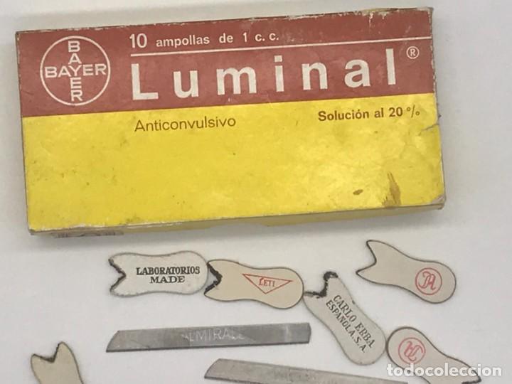 Antigüedades: LOTE DE ANTIGUAS CAJAS / BOTES/ PISA PAPELES DE MEDICAMENTOS - Foto 8 - 234121480