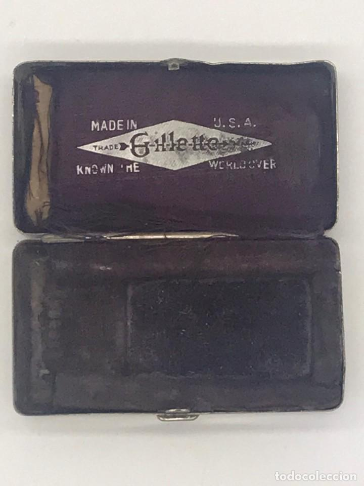 Antigüedades: ANTIGUA CAJA METALICA ESTUCHE DE MAQUINILLAS GILLETTE - MADE IN USA - Foto 1 - 234132490