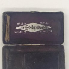 Antigüedades: ANTIGUA CAJA METALICA ESTUCHE DE MAQUINILLAS GILLETTE - MADE IN USA. Lote 234132490