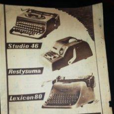 Antiquités: (1953)HISPANO OLIVETTI, ANTIGUA PUBLICIDAD. Lote 234140640