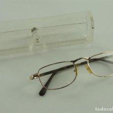 Antiquités: PRECIOSAS GAFAS COLOR DORADO. Lote 234314105