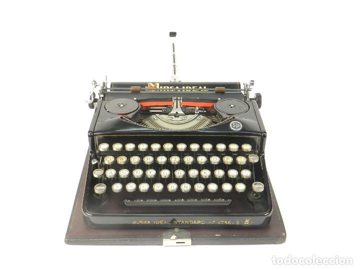 Antigüedades: RARA MAQUINA DE ESCRIBIR MIRSA IDEAL Nº5 AÑO 1934 TYPEWRITER SCHREIBMASCHINE - Foto 2 - 234339295