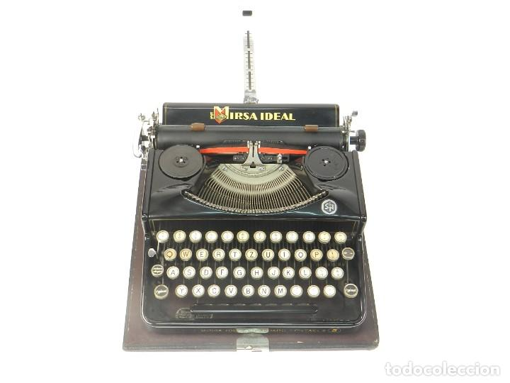 Antigüedades: RARA MAQUINA DE ESCRIBIR MIRSA IDEAL Nº5 AÑO 1934 TYPEWRITER SCHREIBMASCHINE - Foto 3 - 234339295