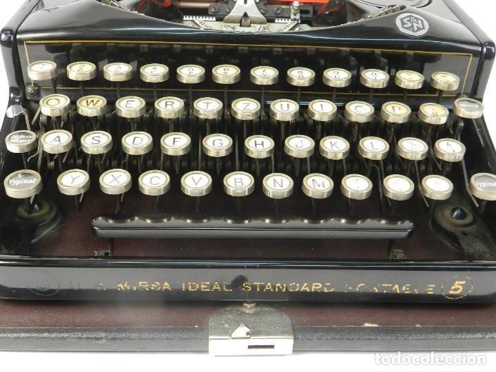 Antigüedades: RARA MAQUINA DE ESCRIBIR MIRSA IDEAL Nº5 AÑO 1934 TYPEWRITER SCHREIBMASCHINE - Foto 4 - 234339295