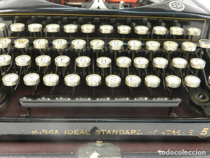 Antigüedades: RARA MAQUINA DE ESCRIBIR MIRSA IDEAL Nº5 AÑO 1934 TYPEWRITER SCHREIBMASCHINE - Foto 5 - 234339295