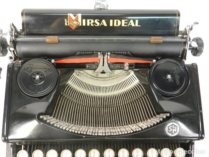Antigüedades: RARA MAQUINA DE ESCRIBIR MIRSA IDEAL Nº5 AÑO 1934 TYPEWRITER SCHREIBMASCHINE - Foto 7 - 234339295