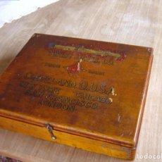 Antiquités: ANTIGUA CAJA DE BROCAS. THE CLEVELAND TWIST DRILL CO. CLEVELAND O. U.S.A. COMPLETA.. Lote 234442230