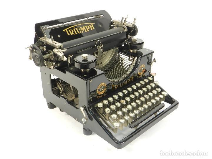MAQUINA DE ESCRIBIR TRIUMPH Nº10 SIMPLEX AÑO 1925 TYPEWRITER SCHREIBMASCHINE (Antigüedades - Técnicas - Máquinas de Escribir Antiguas - Triumph)
