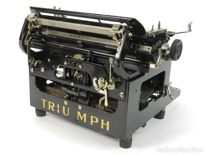 Antigüedades: MAQUINA DE ESCRIBIR TRIUMPH Nº10 SIMPLEX AÑO 1925 TYPEWRITER SCHREIBMASCHINE - Foto 9 - 234450480