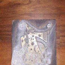 Antigüedades: ANTIGUA PLANCHA DE IMPRENTA, BRUJO, MAGIA .. Lote 234511580