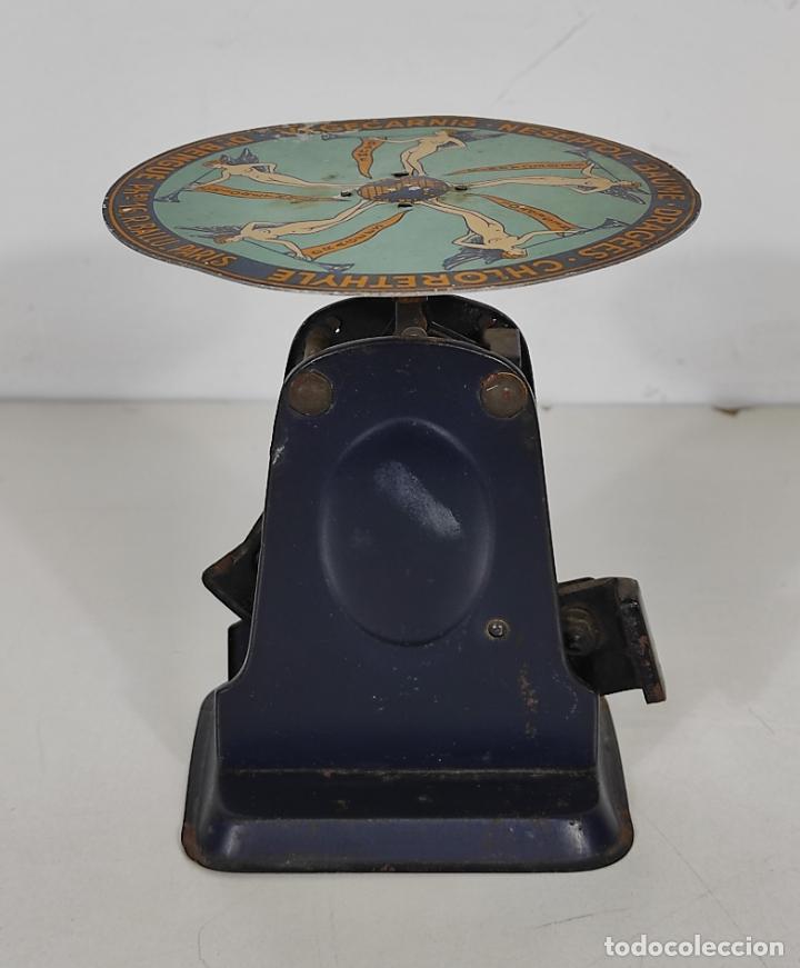 Antigüedades: Antigua Balanza para Cartas - Publicidad Farmacias, Dr Bengué, París - Bascula de Colección - Foto 2 - 234528785